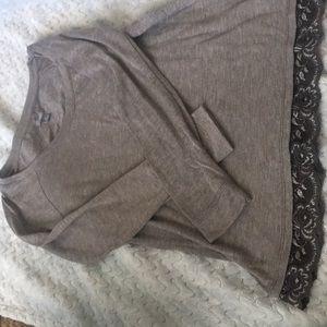 lace bottom shirt